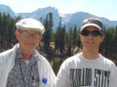 """Don, Greg and Joachim at Sprague Lake"", Rocky Mountain NP, Colorado, 2008"