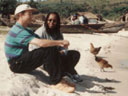 Greg and Deqa at 'Miami Beach', Bukoba, Tanzania, 2001