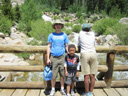 """Greg, Joanitha and Joachim at Alluvial Falls"", Rocky Mountain NP, Colorado, 2011"