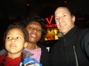 """Greg, Joanitha and Joachim by the V"", Las Vegas, Nevada, 2009"