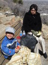 Joachim and Joanitha at a winter picnic, Boulder, Colorado, 2008