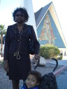 Joanitha and Joachim at a church, Las Vegas, Nevada, 2009