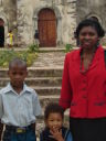"""Joanitha, Joachim and Deo at Bunena Church"", Bukoba, Tanzania, 2008"