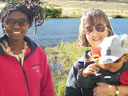 """Joanitha, Joachim and Colette at Dixon Reservoir"", Fort Collins, Colorado, 2007"
