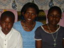 Joanitha with the Kagirwa family, Mwanza, Tanzania, 2008