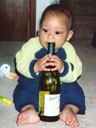 Joachim and wine bottle, Fort Collins, Colorado, 2005
