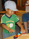 """Joachim playing with trains, Children's Museum"", Denver, Colorado, 2007"