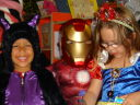 Joachim and friends in Halloween costumes, Fort Collins, Colorado, 2008