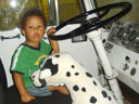 """Joachim and dog in fire truck, Children's Museum"", Denver, Colorado, 2007"