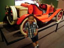Joachim by an old Ford in a museum, Santa Fe, New Mexico, 2009