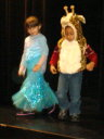 Joachim on stage with a girl at the children's museum, Las Vegas, Nevada, 2009