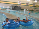 """Joachim, Mary and Tariq at the CSU Rec Center pool"", Fort Collins, Colorado, 2011"