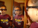 Joachim in the bathroom mirrors, Fort Collins, Colorado, 2008