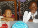 Joachim on his third birthday with cousin Ngasa, Dar es Salaam, Tanzania, 2008