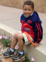 Joachim by the art museum, Santa Fe, New Mexico, 2009