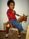 Joachim on his horse, Fort Collins, Colorado, 2008