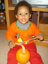 Joachim with a pumpkin, Fort Collins, Colorado, 2007