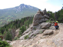 Joachim on rock piles by Lily Mountain, Rocky Mountain NP, Colorado, 2011