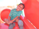 Joachim on a slide, DePere, Wisconsin, 2011