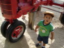"""Joachim by a tractor, Lee Martinez Park"", Fort Collins, Colorado, 2008"