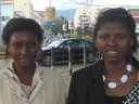 Maria and Joanitha by the clock tower, Arusha, Tanzania, 2008