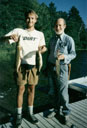 Tom and Don with their catch, Minocqua, Wisconsin, 1990