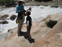 Yongli and Joachim at Alluvial Falls, Rocky Mountain NP, Colorado, 2011